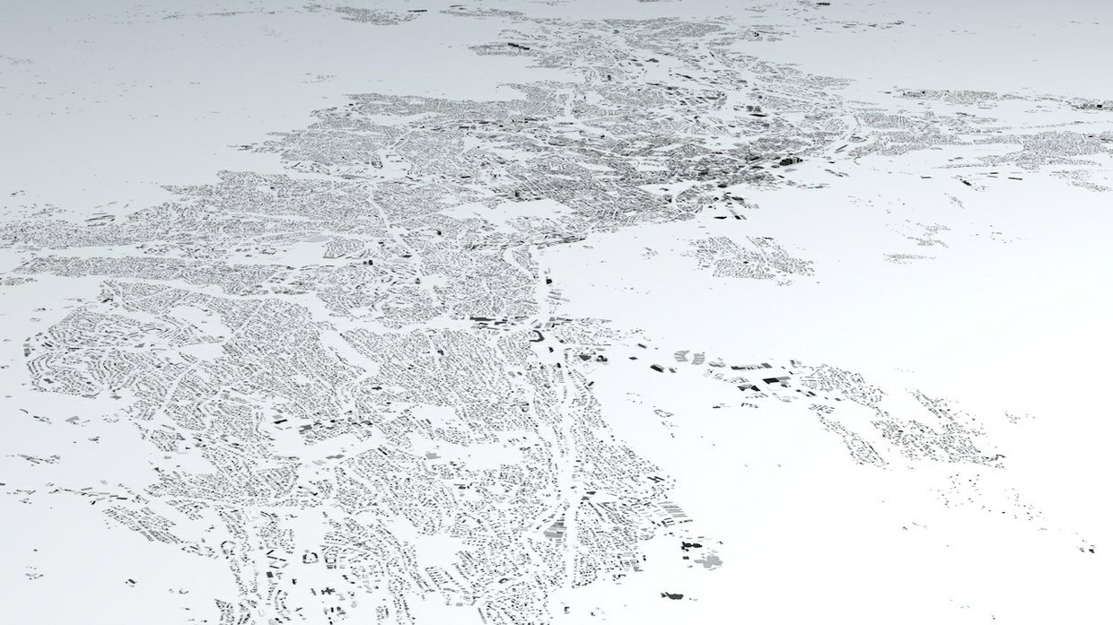 Oslo Streets and Buildings Architectural 3D Model