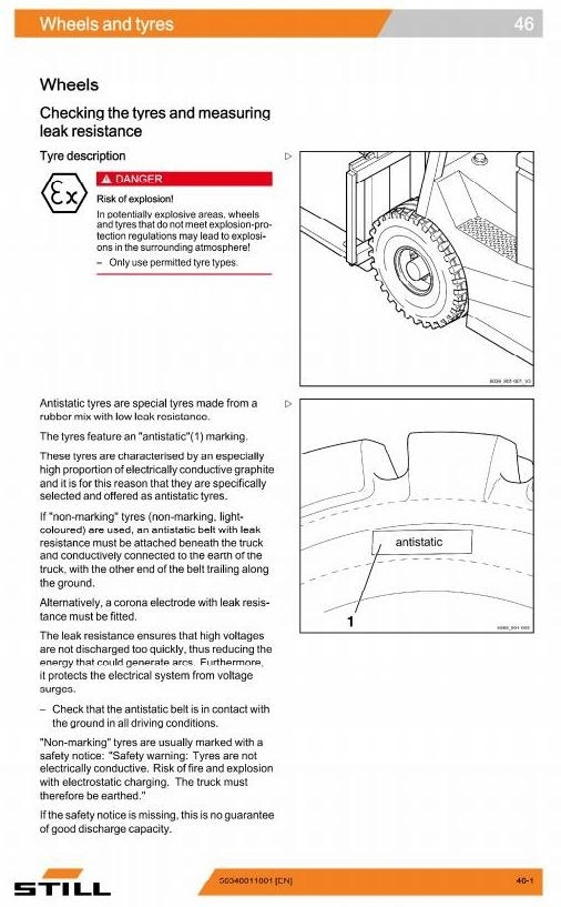 Still Explosion Protected Truck RX60-40,-45,-50: 6327,6328,6329,6330,6367,6368,6369 Service Manual