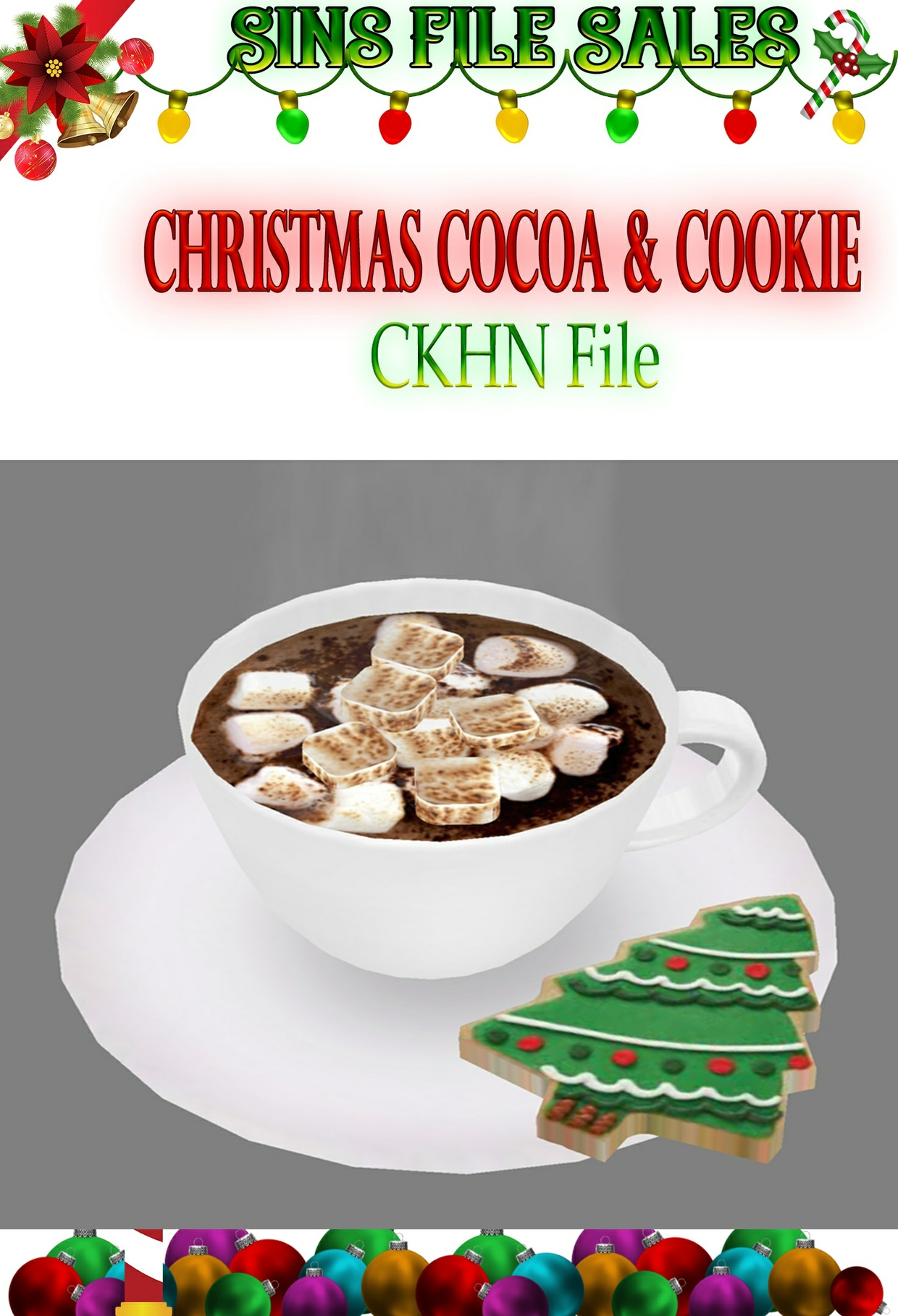 Christmas Cookie With Cocoa/Hot Choc * CHKN