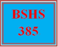 BSHS 385 Week 1 Interview Paper