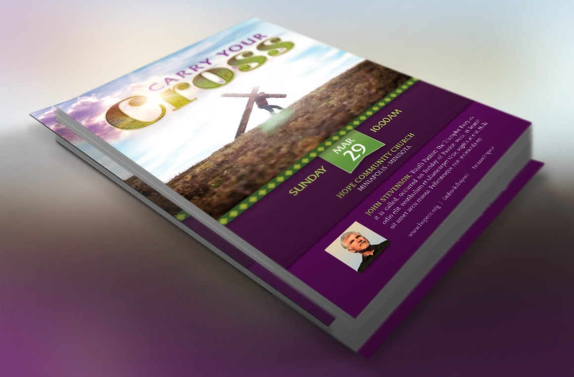 Carry Cross Flyer Template