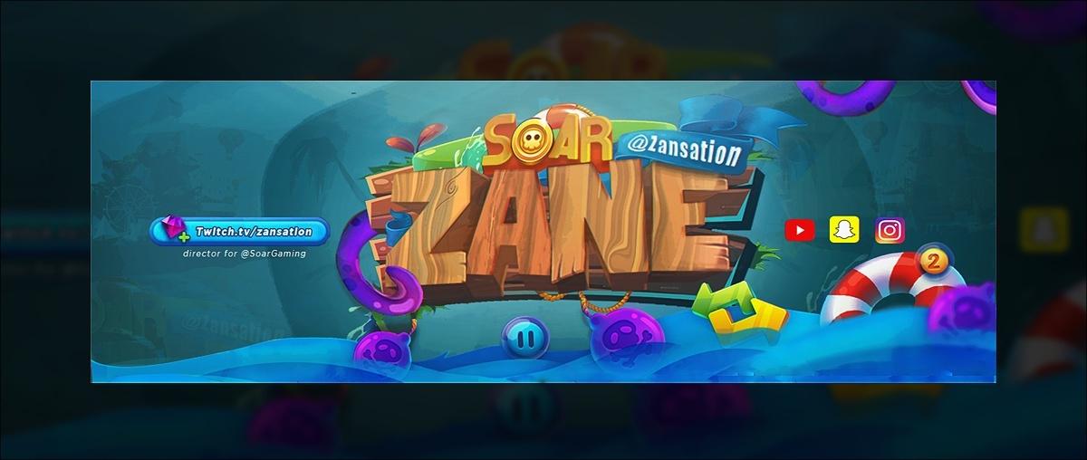 Header for SoaR Zane | Template PSD File