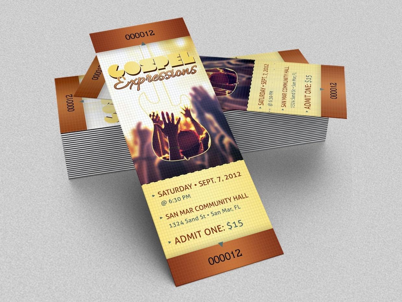 gospel concert ticket template godserv designs sellfy com