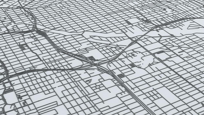 Miami Road Network Architectural 3D Model