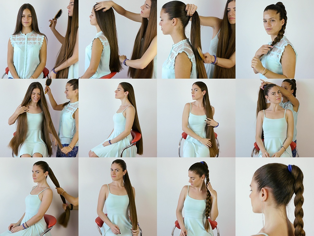 Suzana and Sladjana Sleek Hair