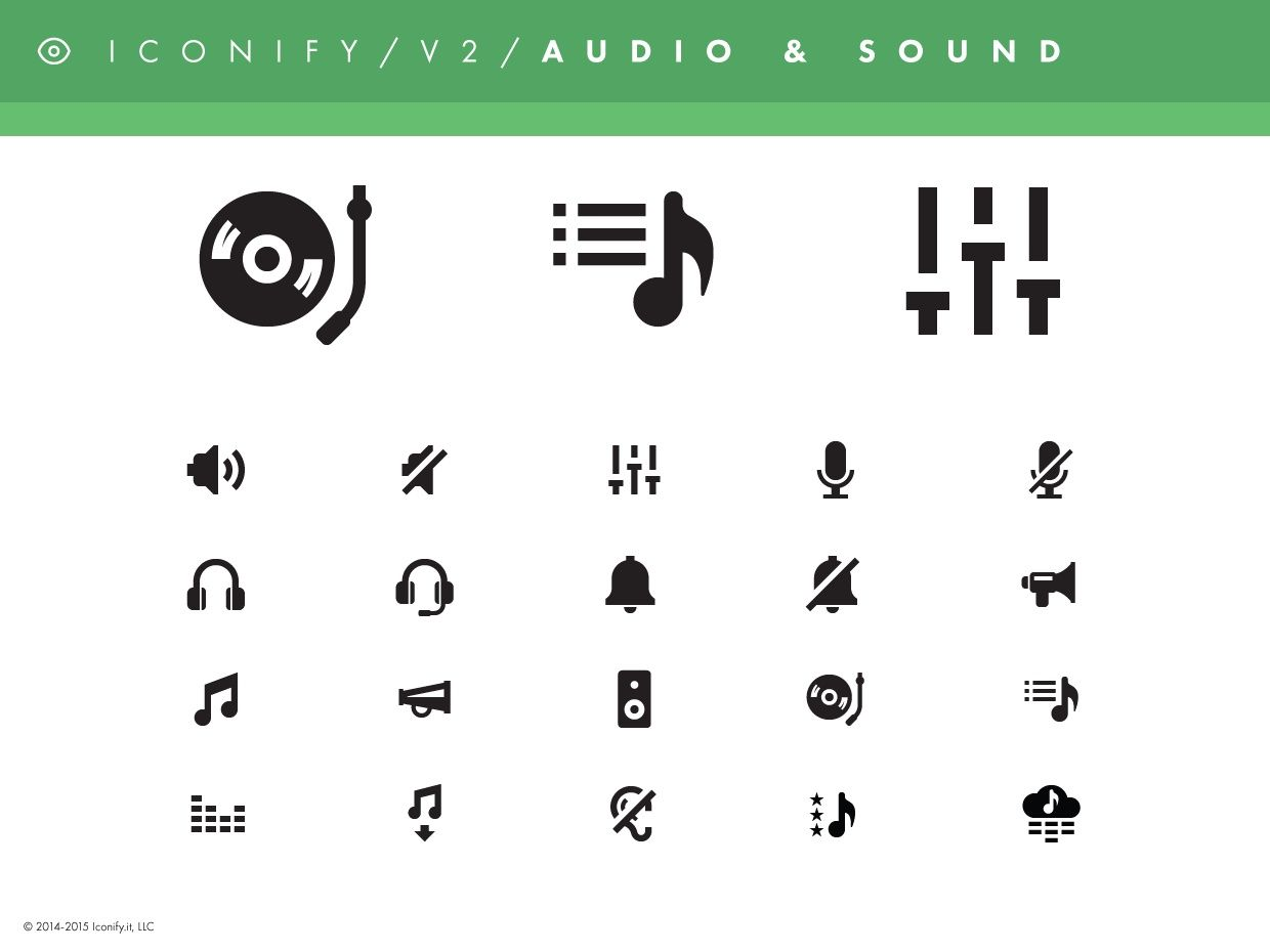 Iconify v2 - Audio & Sound