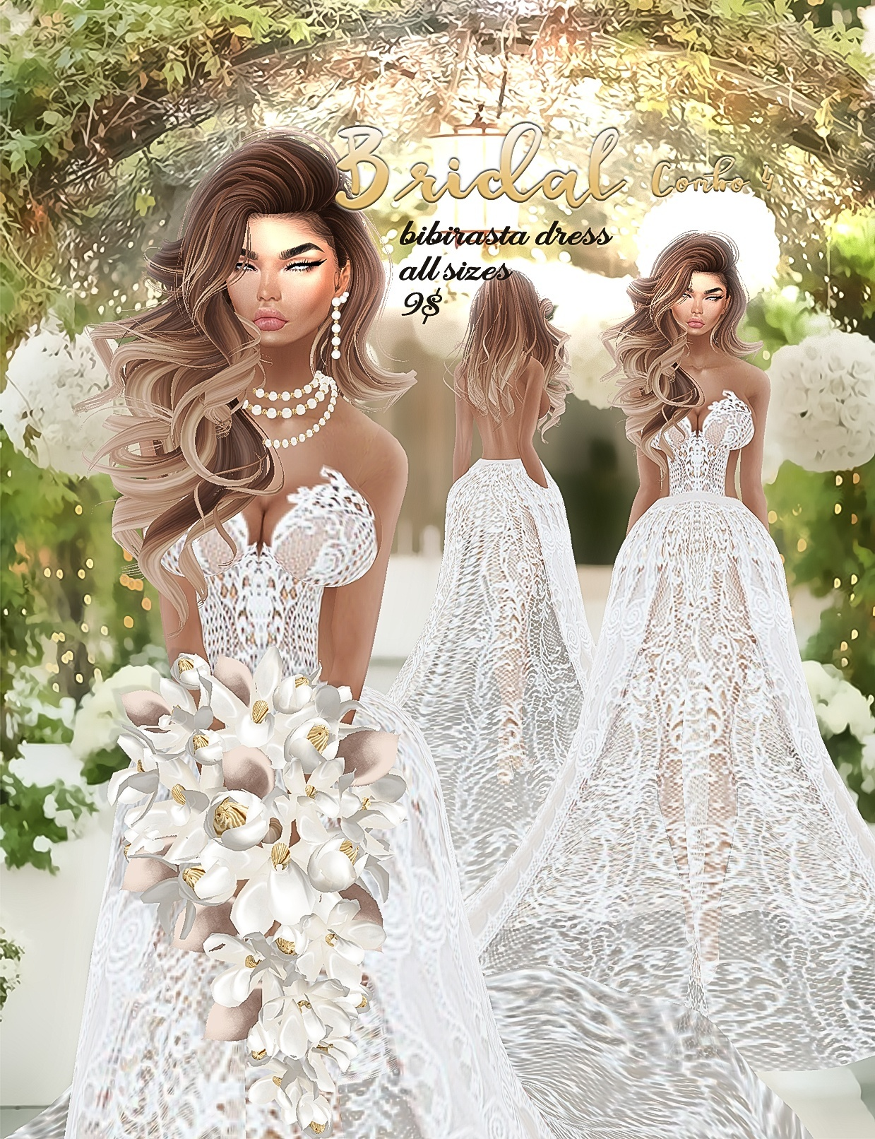 Bridal combo 4 •imvu Bibirasta dress all sizes