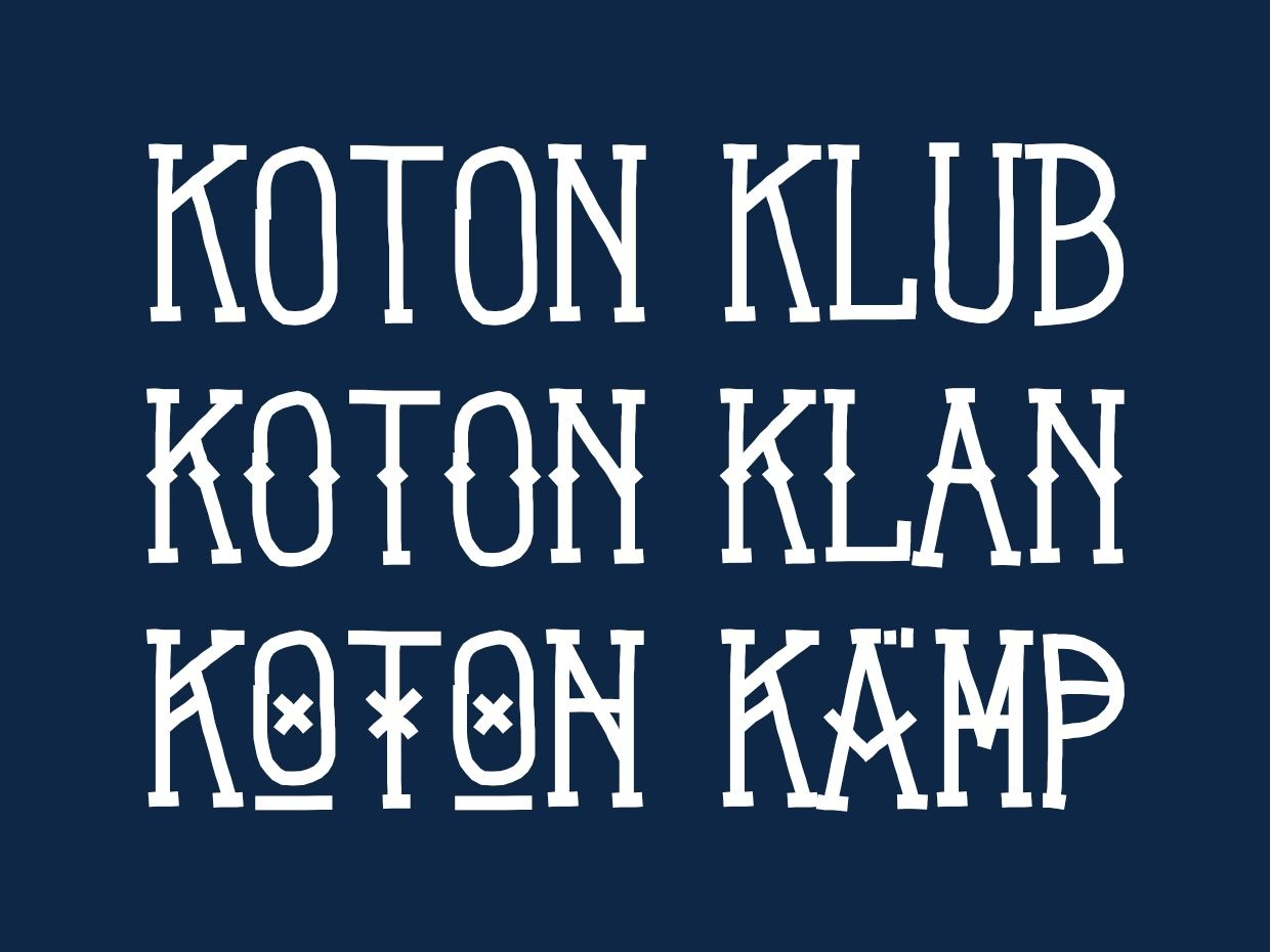 Koton Kollection - Font