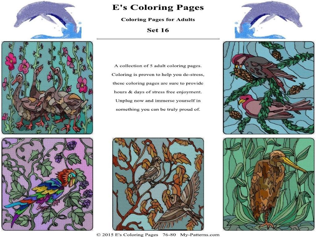 E's Coloring Pages - Set 16