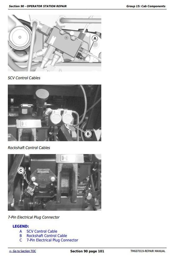 John Deere 5083E and 5093E Tractors Repair Technical Manual (TM607019)