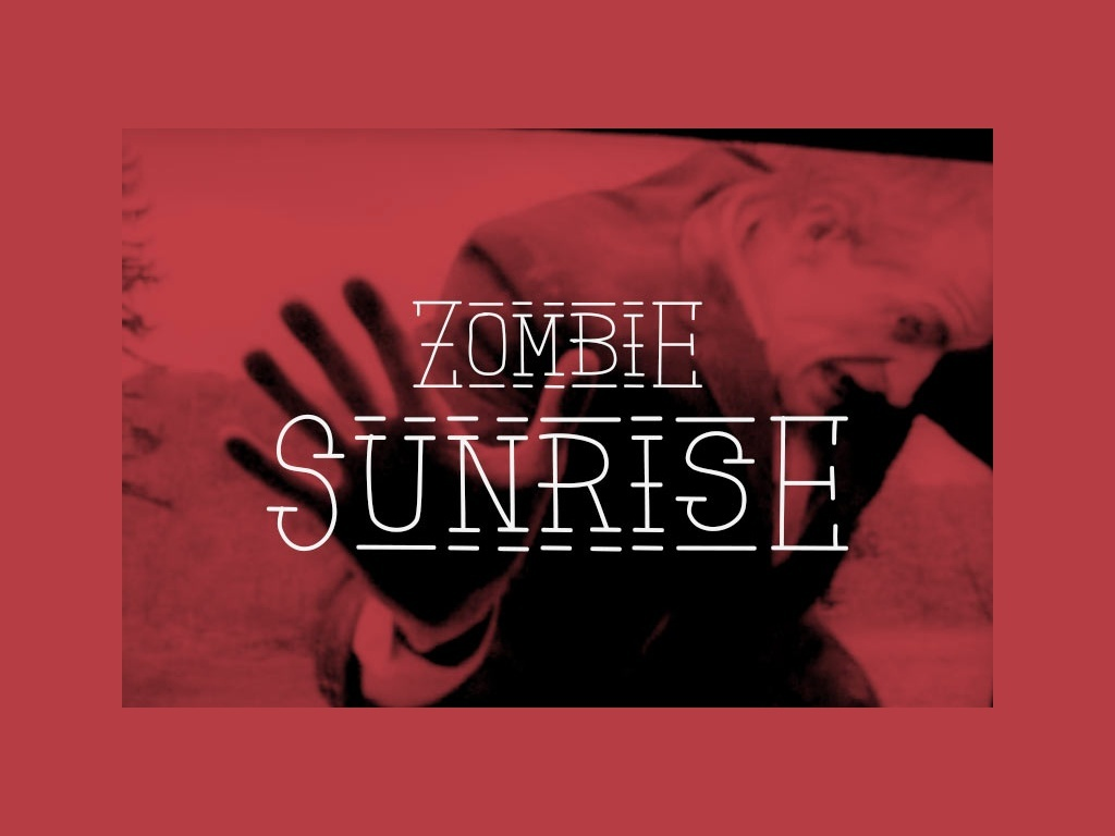 Zombie Sunrise - font.