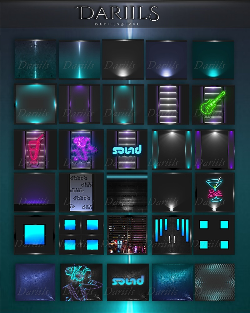 New Textures pack40  Neon club 2017