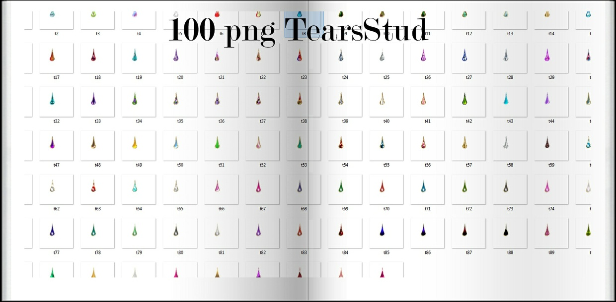 100 Png Tears Stud  BY CaryR