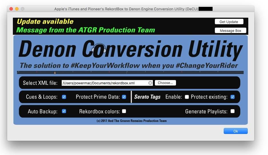 Denon Conversion Utility (DeCU) from various workflows to Denon's Engine Prime