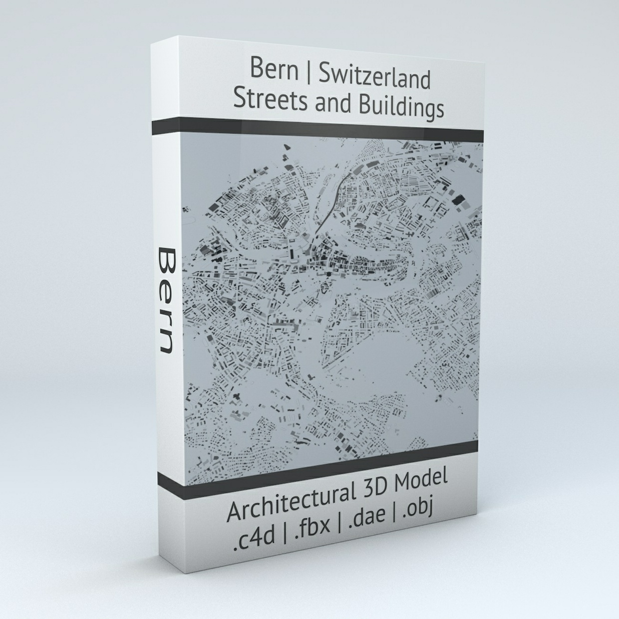 Bern Streets and Buildings Architectural 3D Model