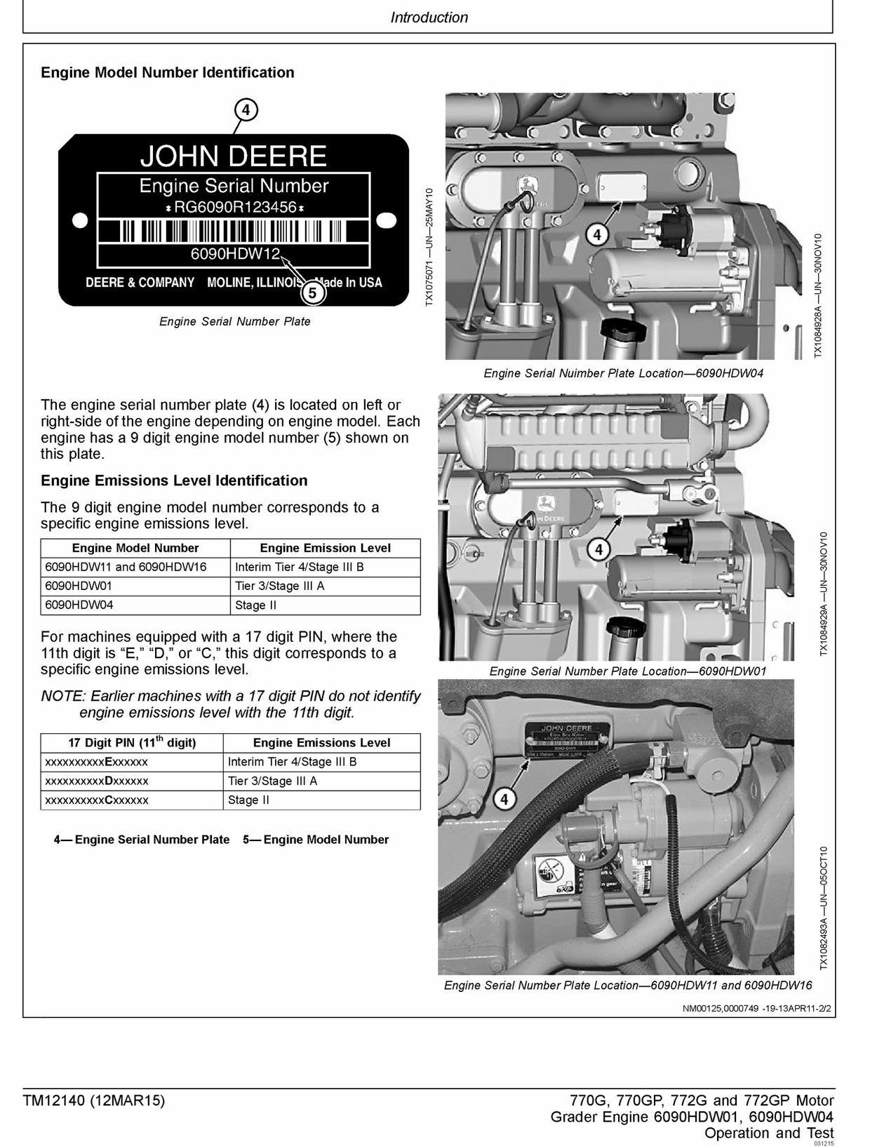 PDF JOHN DEERE 770G 770GP 772G 772GP MOTOR GRADER OPERATION AND TEST MANUAL TM12140