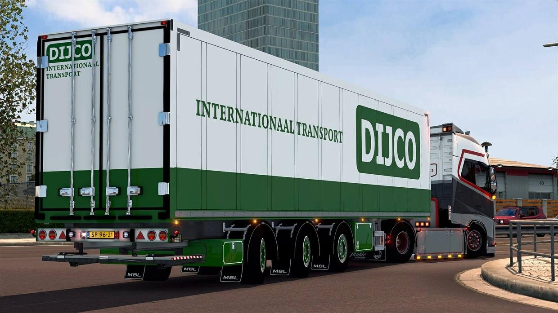 Schmitz trailer dijco transport ets2