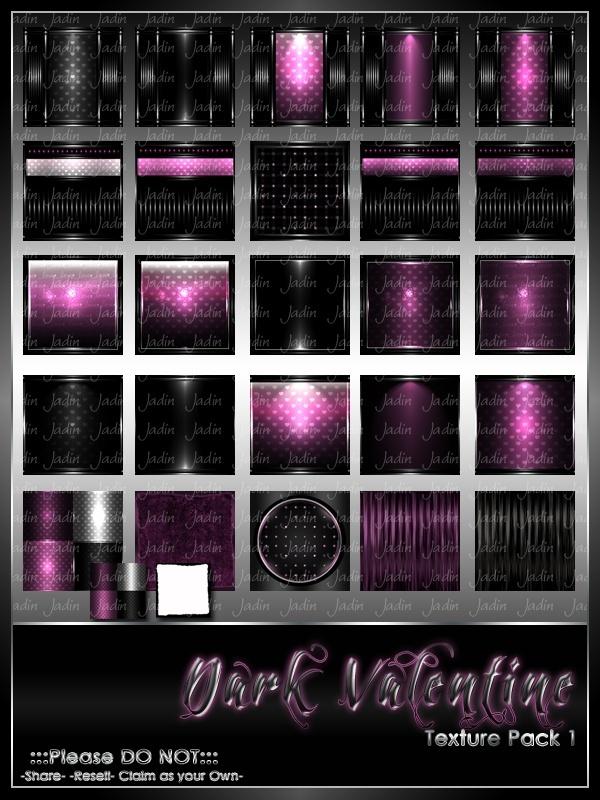 Dark Valentine Texture Pack #1-- $10.00