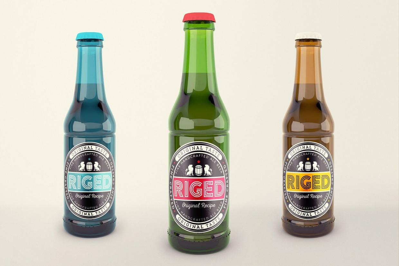 Realistic Beer Bottle Mock-Up