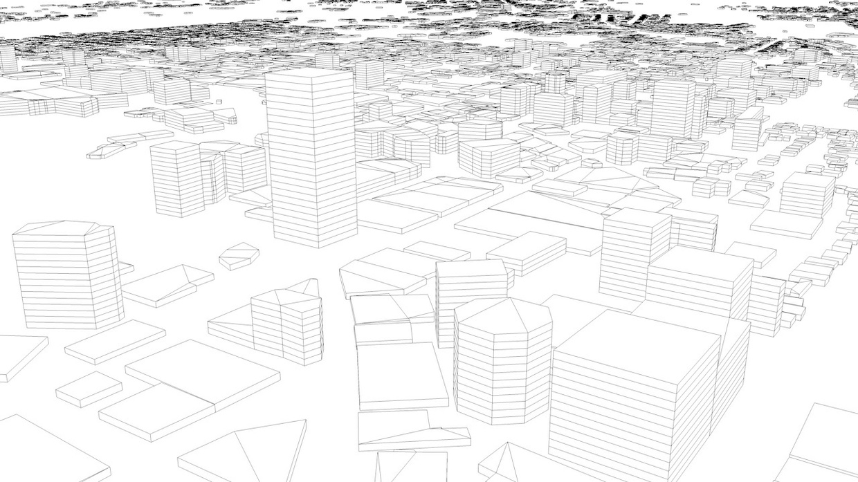 Wellington Streets and Buildings Architectural 3D Model