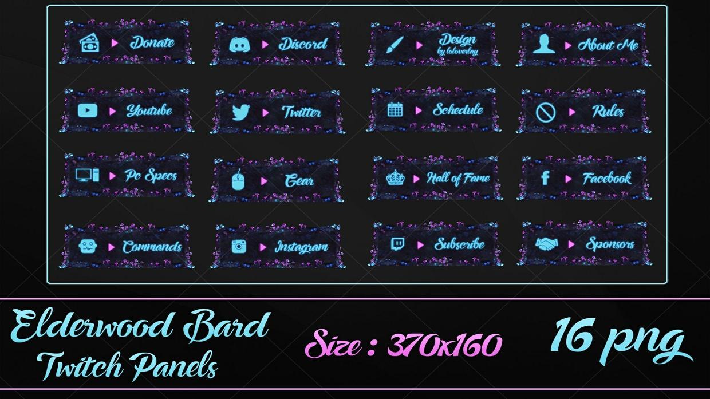 ELDERWOOD BARD -  BUNDLE [37 PNG]