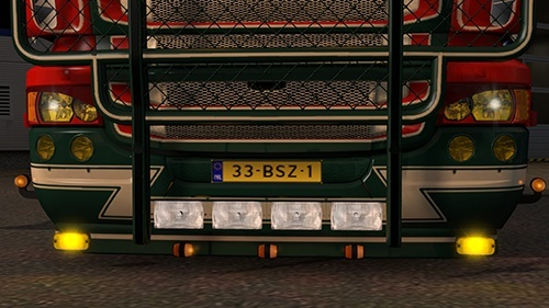 Frontbumper with lights for RJL R and TORPEDO (eurotruck simulator)