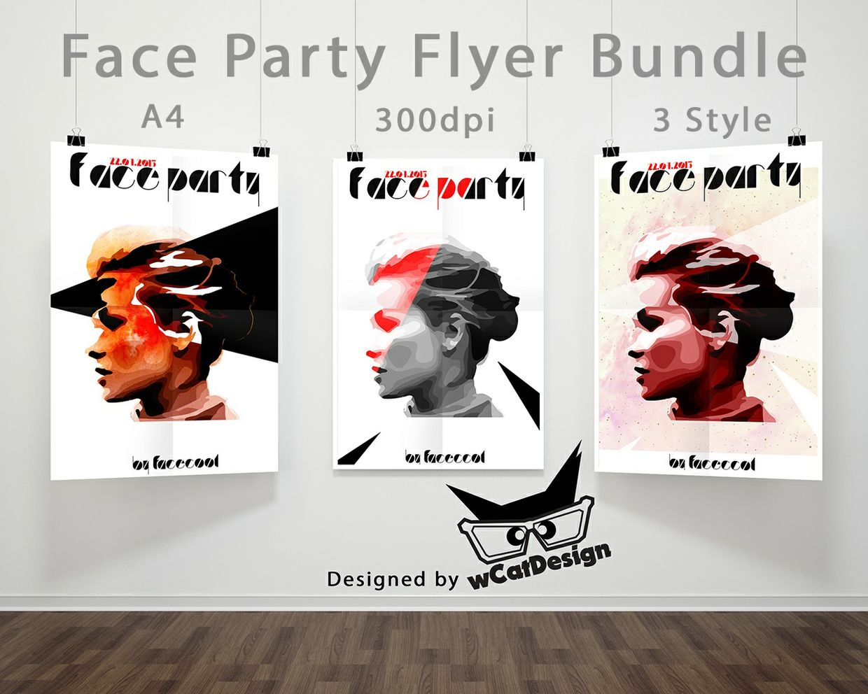 Face to Face Minimal Party Flyer Bundle