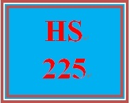 HS 225 Week 1 Student Reflection, Week 1