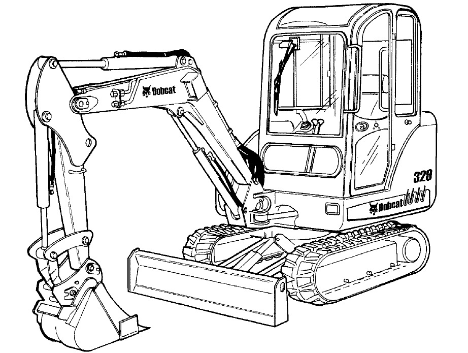 Bobcat 329 Compact Excavator Service Repair Manual Download