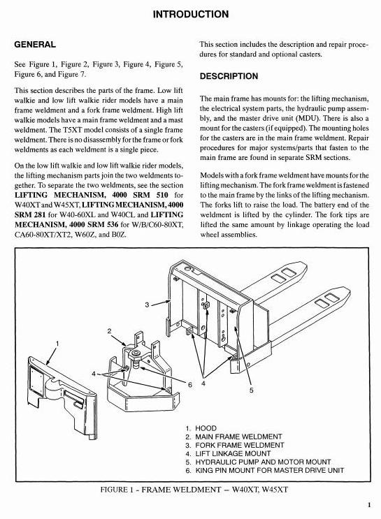 Hyster Pallet Truck Type W40XT (A218), W45XT (A215), W45XT (B215) Workshop Service Manual