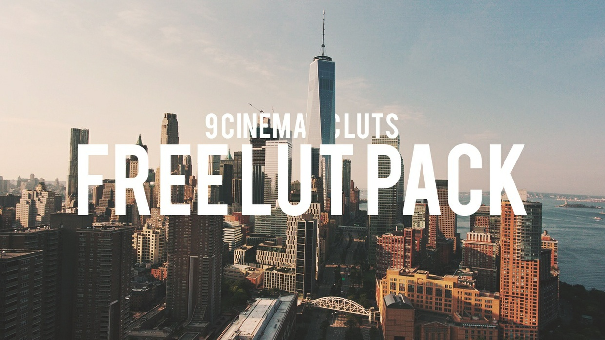 9 FREE Cinematic LUTs Pack by Rory Illidge | Premiere Pro, Final Cut Pro, ect.
