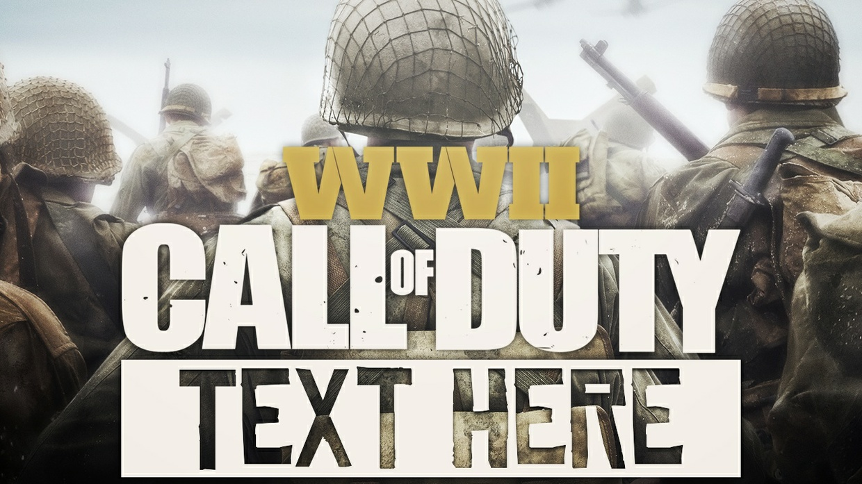 Call of Duty: World War 2 - Thumbnail Template Pack - Photoshop Template