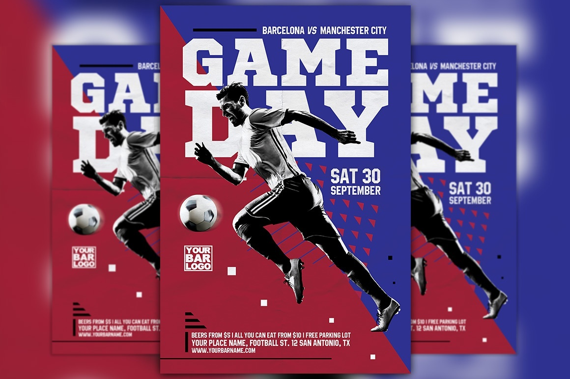 Soccer Game Day Flyer Template