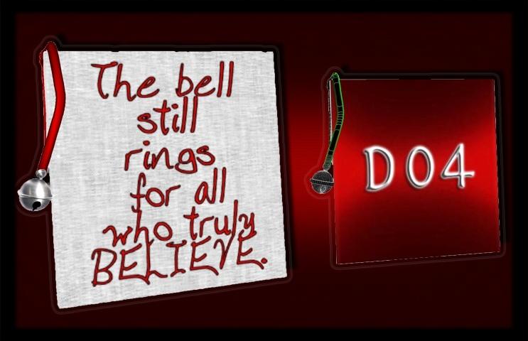Mesh-Christmas Bell Canvas
