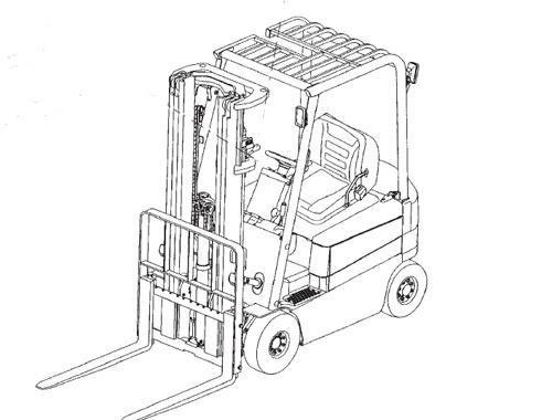 Mitsubishi FB20K FB25K FB30K FB35K Forklift Trucks Service Repair Manual Download