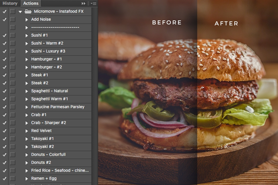 Food Photography PS Actions