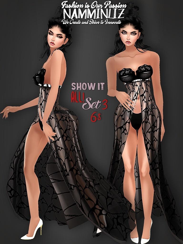 Show It All! SET3 Bibirasta Dress All sizes PNG