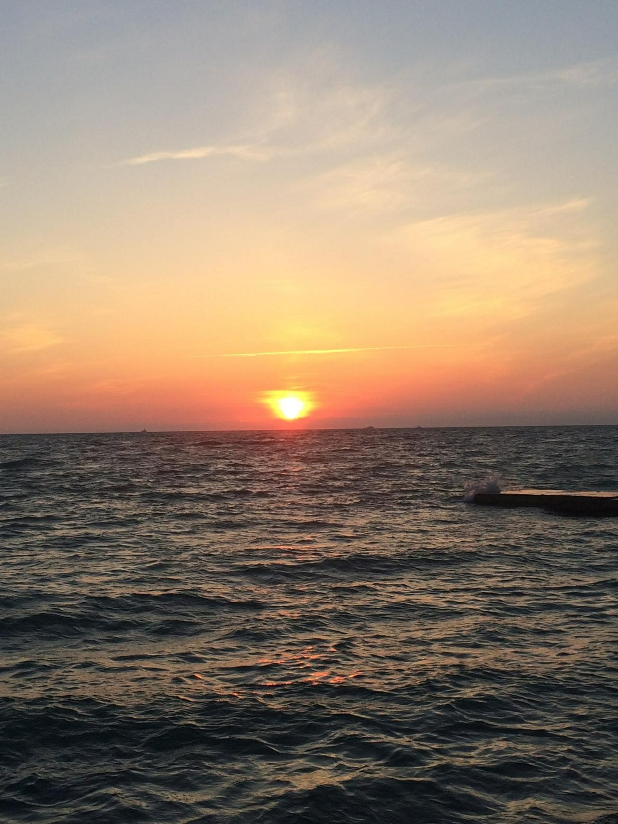 Delightful and enchanting sunset on the Black sea!