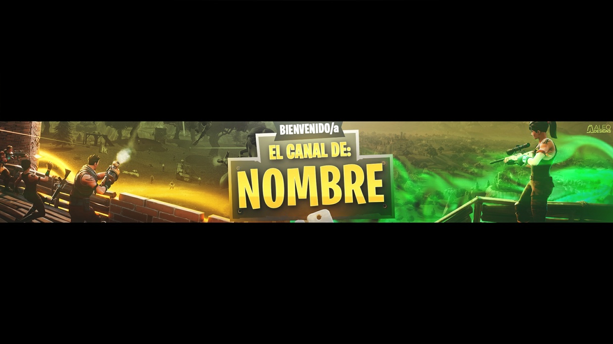 FREE FORTNITE BANNER TEMPLATE EDITABLE in PHOTOSHOP - Aleo.