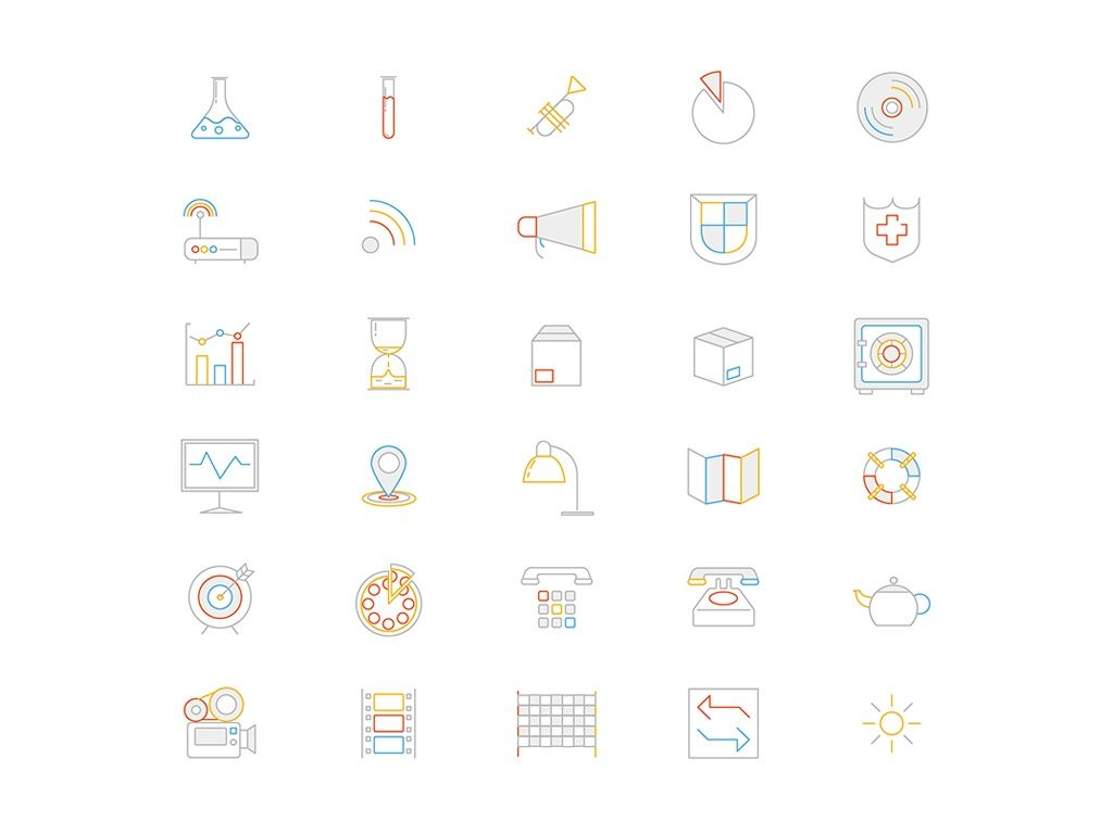 500 Awesome Line Icons