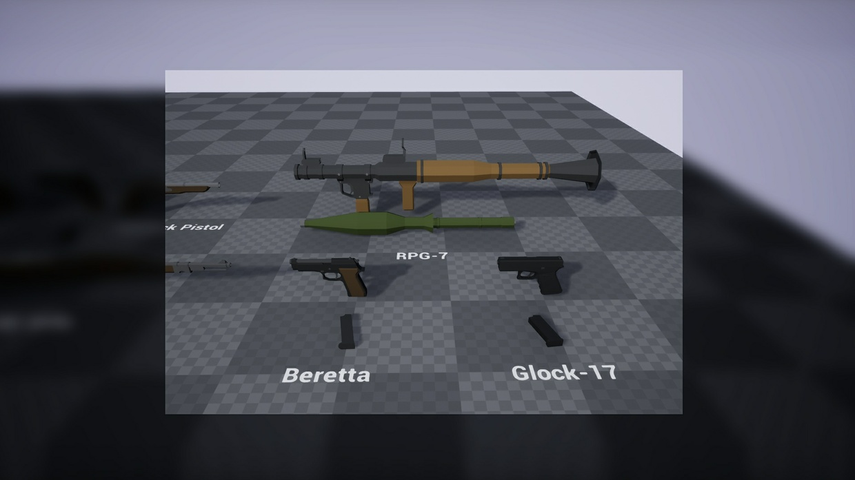 Low Poly Weapons Pack | UE4