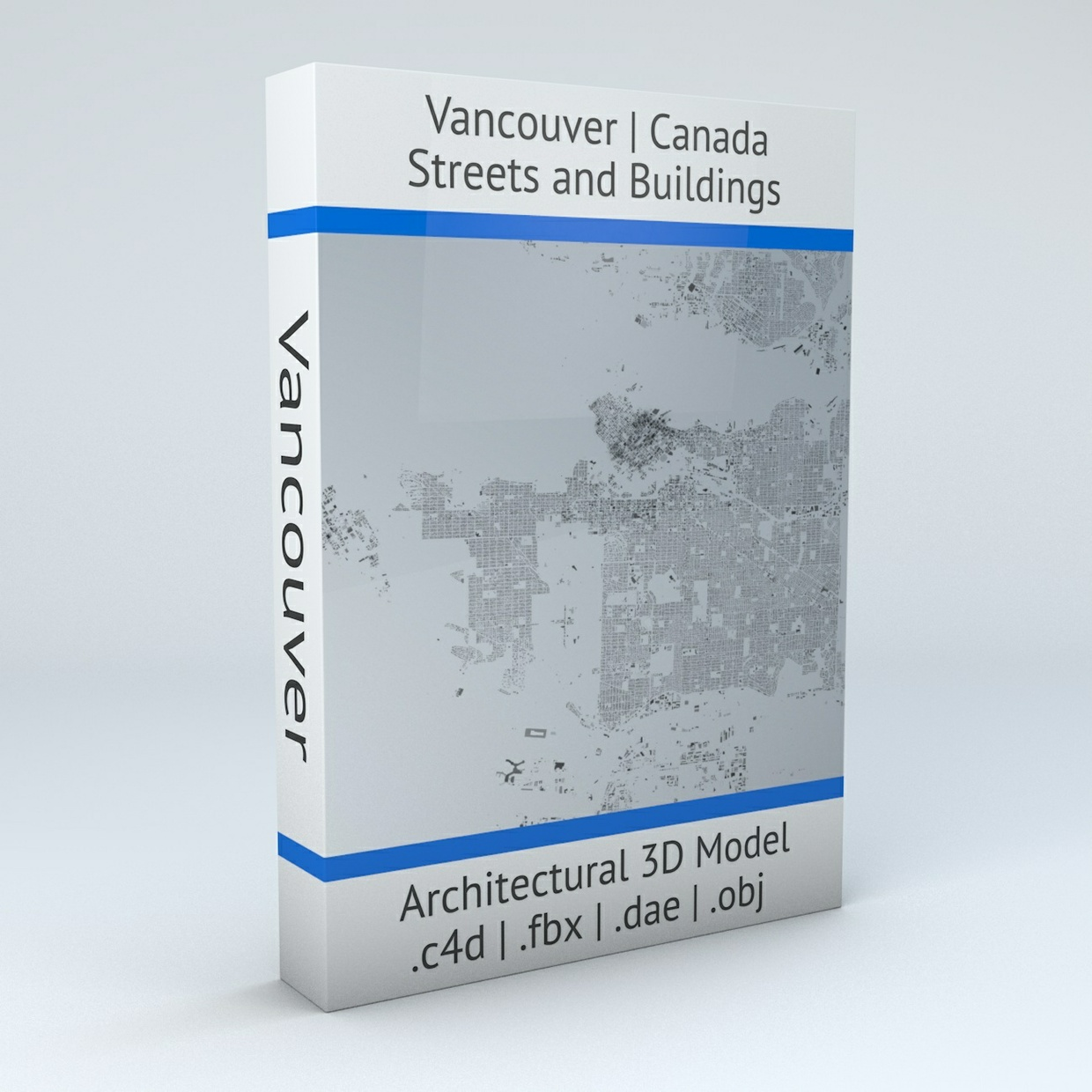 Vancouver Streets and Buildings Architectural 3D Model