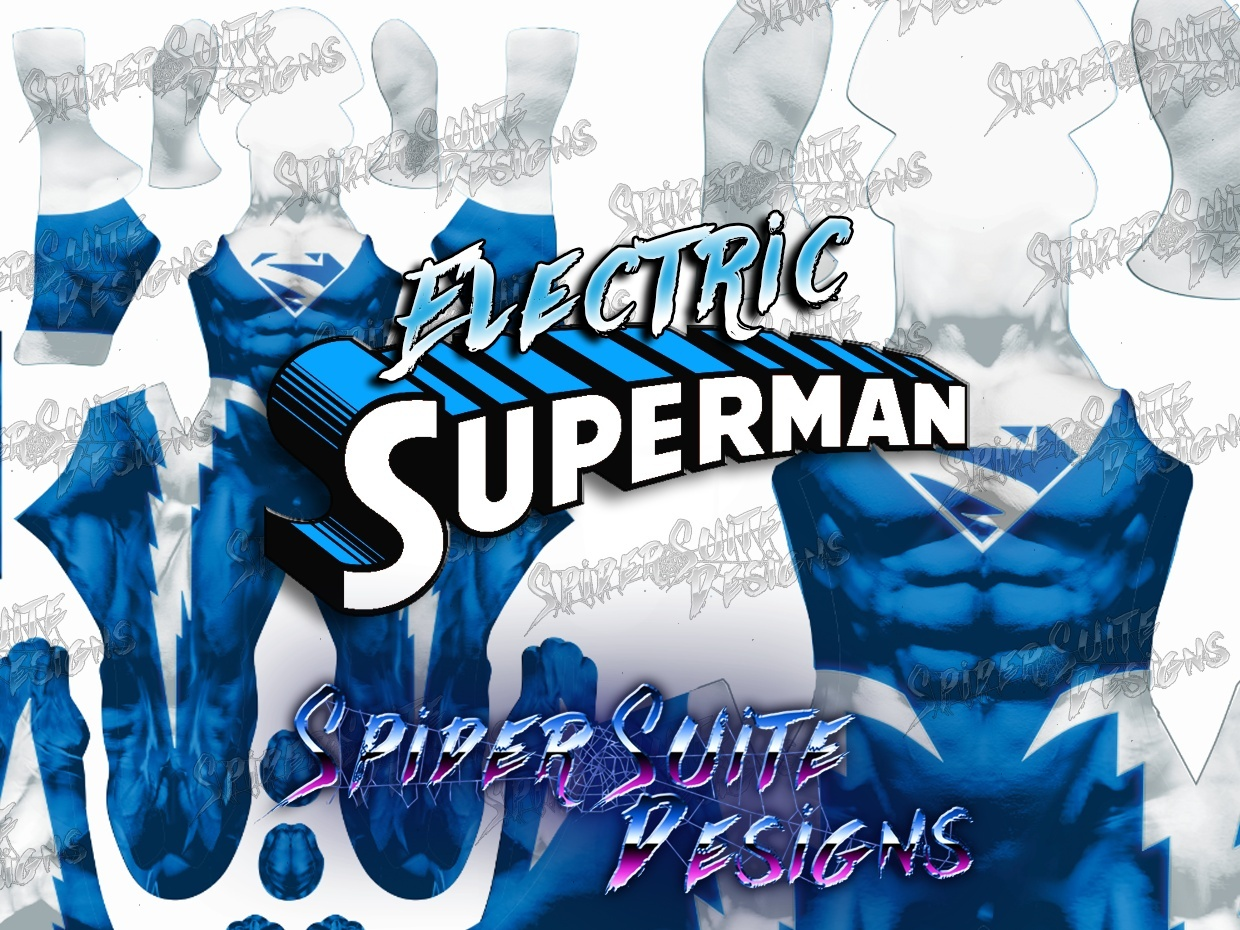 Electric Superman Blue 2017 Pattern