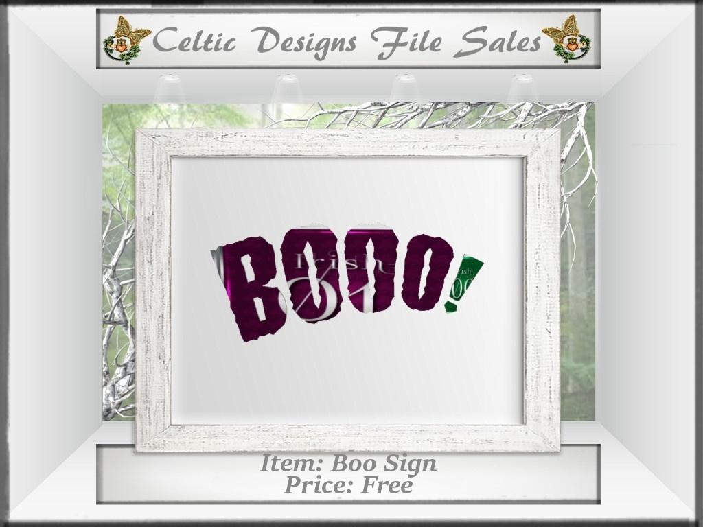 CD Boo Sign Mesh