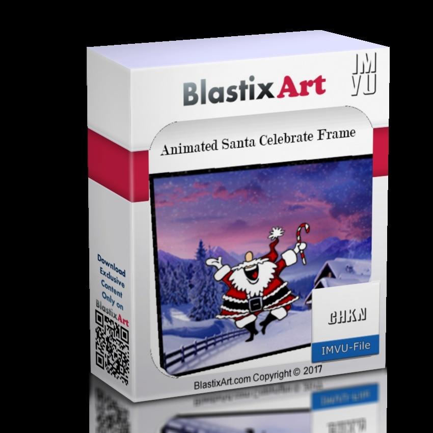 Animated Santa Celebrate Frame