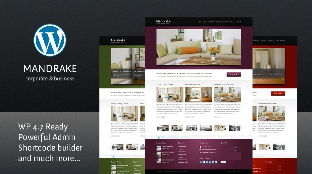 Mandrake - Premium WordPress Theme
