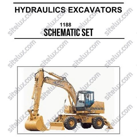 Case 1188 Crawler and Wheeled Hydraulics Excavators Schematic Set