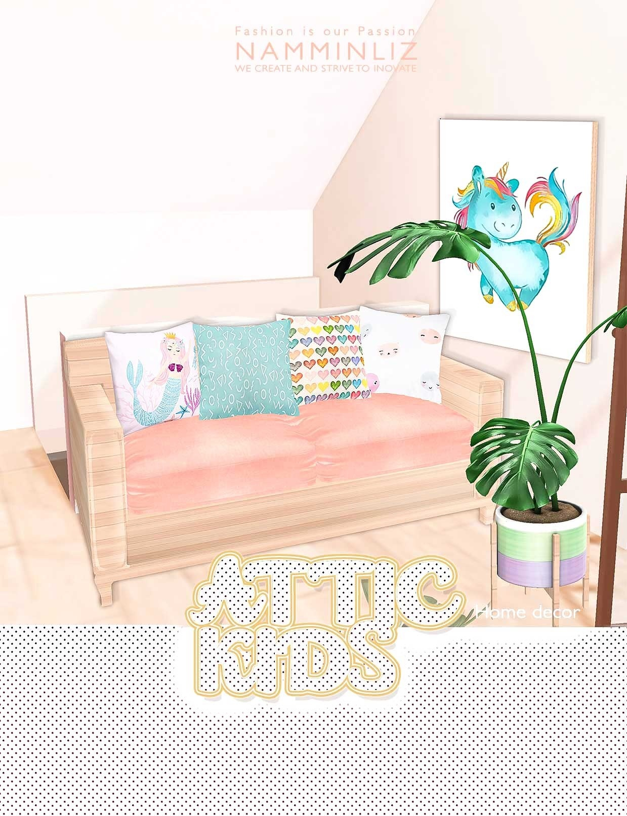 Attic Kids Home decor imvu •52 Textures JPG •11*.CHKN  Limited to 3 Person Only
