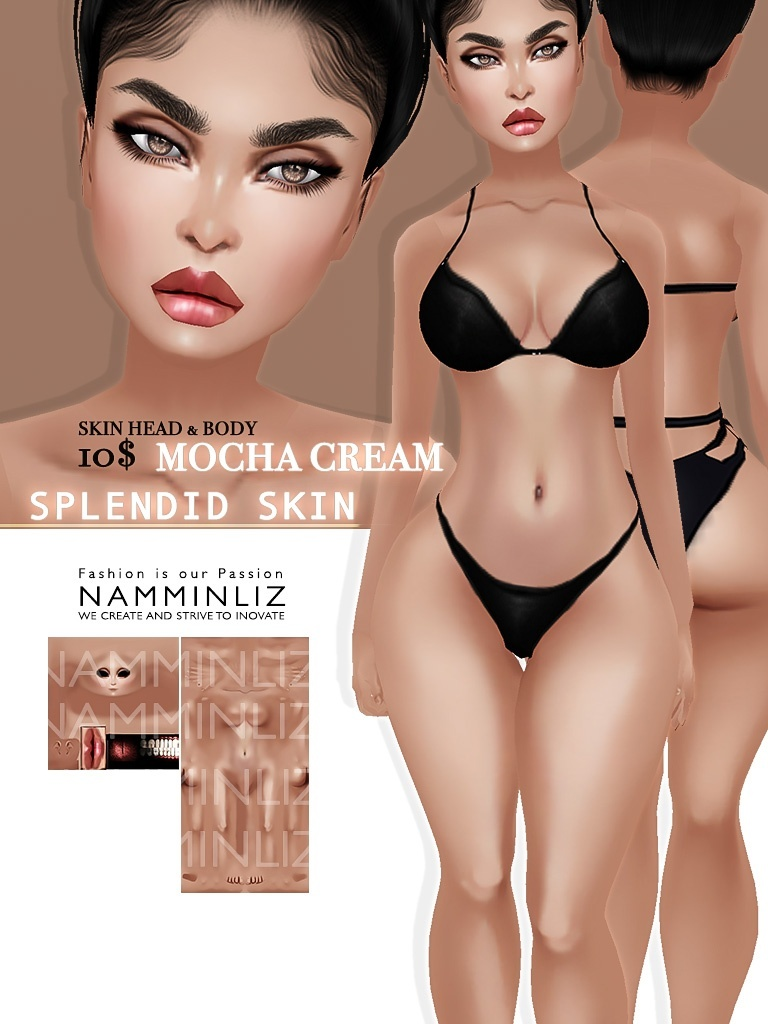 Splendid Skin 6 imvu Texture JPG (Sugar , Mocha , Crunchy , Honey , Berry  Coco )
