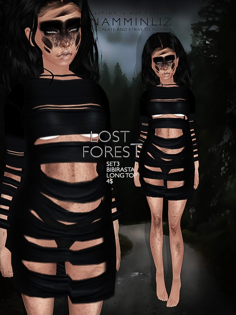 Lost forest set 3 imvu texture JPG Bibirasta long top - NAMMINLIZfilesale